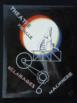 Publicité Théâtre Pigalle artiste Africain  Norkos   :  Bénin