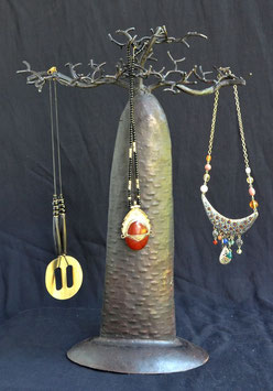 Baobab Africain porte-bijoux en tôle  :  Kenya
