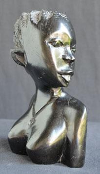 Statue Africaine du Bénin  : Buste femme