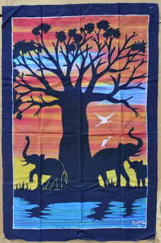 Batik Africain en coton  :  Bénin