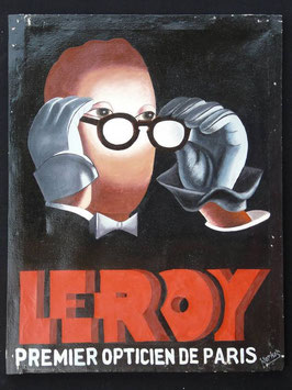 Publicité Opticien Leroy artiste Africain  Norkos   :  Bénin