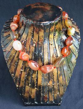 Collier en perles d'Agathe  :  Thailande