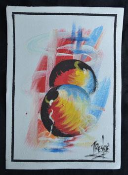 Peinture  Africaine artiste Béninois
