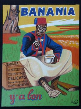 Publicité Banania artiste Africain  Norkos   :  Bénin
