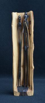 Statue Africaine en bois d ébène du Kénya  :  Massaï