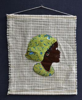 Buste Africain en tissu  :  Bénin