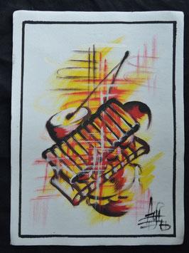 """Peinture """"instruments de musique"""""""