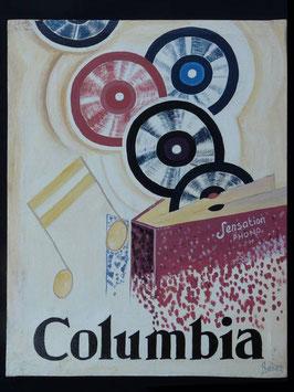 Publicité Columbia artiste Africain  Norkos   :  Bénin
