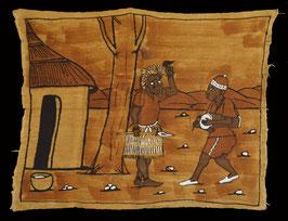 Bogolan Africain en coton tissé :  Mali