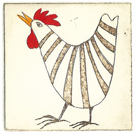 Das gestreifte Huhn