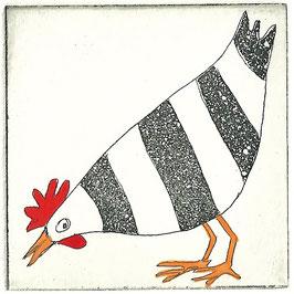 Das zufriedene Huhn