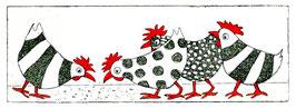 Gesellige Hühner