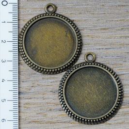E-06 Rahmen gross für Cabochon bronze, 2 Stück