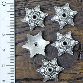 PK-01 Perlkappe Stern gross, 5 Stück