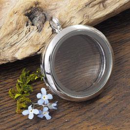 S15 - Amulett silberfarben rund