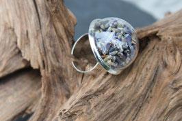 276 Ring gross mit echtem Lavendel