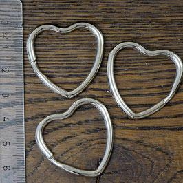 E-17 Schlüsselring Herz silberfarben, 3 Stück