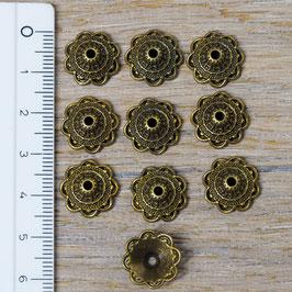 PKB-01 Perlkappe Blume, 10 Stück
