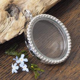 S14 - Amulett silberfarben oval