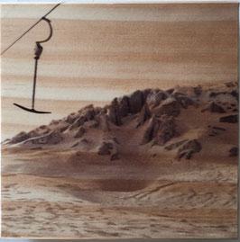 Wood Art mountain 10 x 10 cm