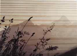 Wood Art mountain 18.5 x 23 cm