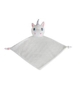 La licorne blanche, doudou plat