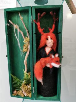 Wald Wächter mit Fuchs