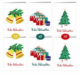 6er Set Weihnachten