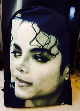 MJ:Photo Print Backpack Big Face