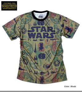 STAR WARS キャラクター&アイコン 総柄プリント Tシャツ