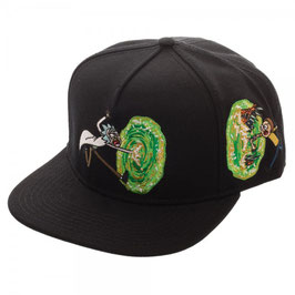 Rick and Morty Portal Black Snapback