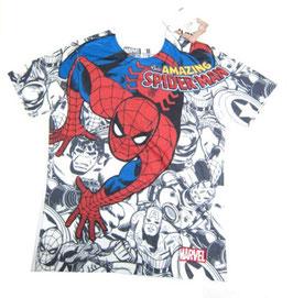 SPIDERMAN  総柄Tシャツ