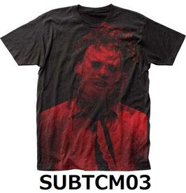 『悪魔のいけにえ』(The Texas Chain Saw Massacre)Tシャツ(総柄)