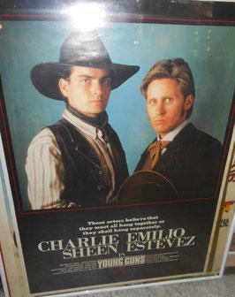 映画『ヤングガン』(Young Guns) 劇場版ポスター(1988年)
