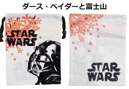 STAR WARS シャンタン巾着 ダース・ベイダーと富士山
