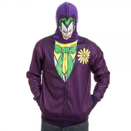 BATMAN JOKER FULL ZIP MASK HOODIE