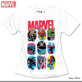 MARVEL  ヒーロー大集合 Tシャツ