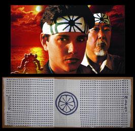 『ベスト・キッド』(The Karate Kid) 劇場版チラシ(2枚)&プロモ用 鉢巻きセット(1984年)