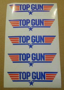 『トップガン』(Top Gun) プロモ用 ステッカー&チラシ2枚(1986年)