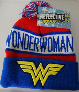 Wonder Woman Logo  Reflective Cuff Beanie