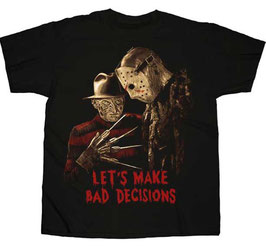 FREDDY VS JASON BAD DECISIONS  Tシャツ