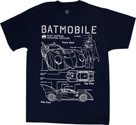 Batman Batmobile Tシャツ
