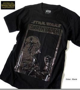STAR WARS  Darth Vader  ブラック箔プリント  Tシャツ