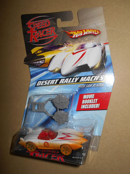 スピード・レーサー HOT WHEELSミニカー  「DESERT RALLY MACH 5」 w/ Saw Blades  1:64