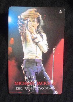 Michael Jackson テレフォンカード 1992年 12月 東京ドーム(シルバーシャツ)