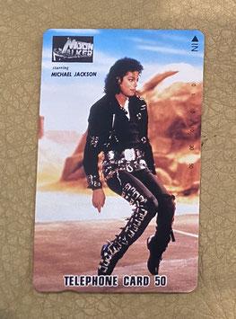 Michael Jackson  MOONWALKER  テレフォンカード(BAD)