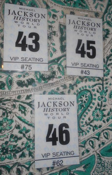 Michael Jackson History World Tour VIP  SEATING  Pass