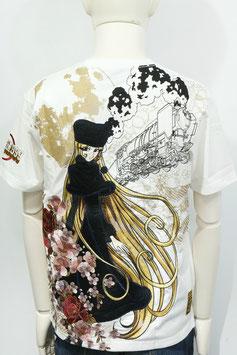 銀河鉄道999 銀河盛華 メーテル  刺繍   Tシャツ