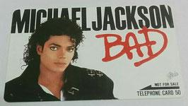 Michael Jackson BAD テレフォンカード(横)
