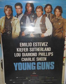 映画『ヤングガン』(Young Guns) 販促用 ポスターカレンダー(1988年)